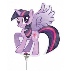 Balon mini figurina Micutul meu ponei, My little pony - 36cm, umflat + bat si rozeta, Amscan 30173