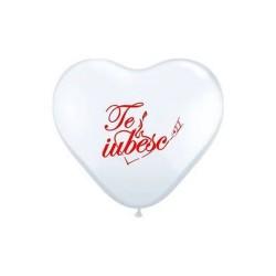 "Baloane latex in forma de inima ""Te iubesc"" -  25 cm, Radar ACRI.TI"