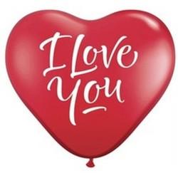 Baloane latex in forma de inima, Sidefate, Diametru 16 cm, Alb 29, Gemar CRM6.29, set 100 buc