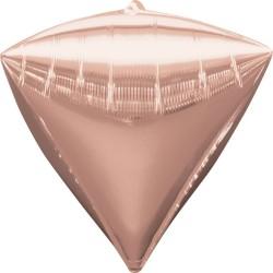 Balon folie diamondz Rose Gold - 38 x 43 cm, Amscan 36184