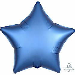 Balon folie 45 cm stea Satin Luxe Azure, Amscan 36811