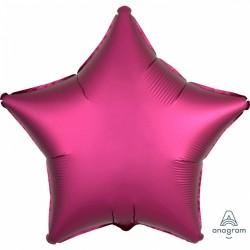Balon folie 45 cm stea Satin Luxe Pomegranate, Amscan 36829