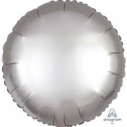 Balon folie rotund 45 cm Satin Luxe Platinum, Amscan 36805