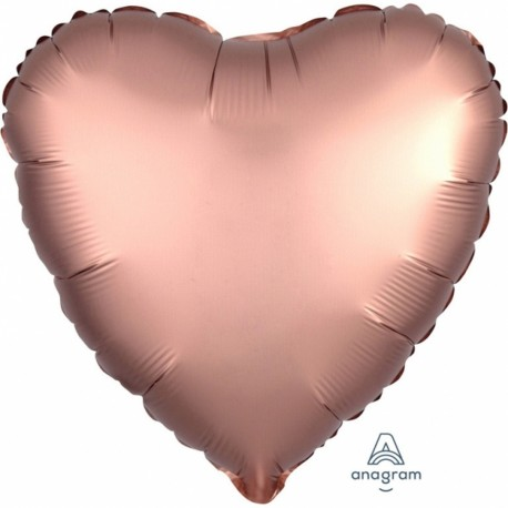 Balon folie inima 45 cm Satin Luxe Rose Gold, Amscan 36825