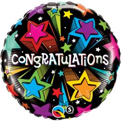 Balon Folie 45 cm Congratulations, Qualatex 41434