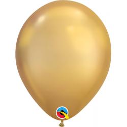 "Baloane latex 11""/28cm Gold- Chrome, Qualatex 58271"