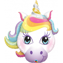 Balon Folie Figurina Unicorn - 38''/ 96 cm, Qualatex 57352