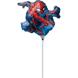 Balon mini figurina Spiderman - 17 x 25cm, Amscan 34666
