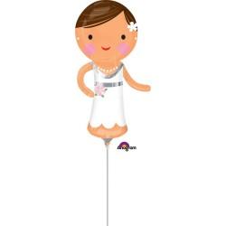 Balon mini figurina Mireasa - 15 x 33 cm, Amscan 35196