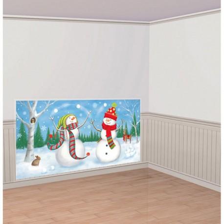 Ornament Sala - Banner - Tapet Mare Scena Iarna, Prietenii de iarna - 32 piese, Amscan 670248