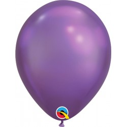 "Baloane latex 11""/28cm Purple - Chrome, Qualatex 58274"