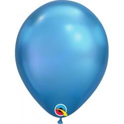 "Baloane latex 11""/28cm Blue - Chrome, Qualatex 58272"