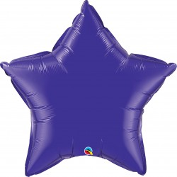 "Balon folie metalizat stea quatrz purple - 20""/50 cm, Qualatex 12645"