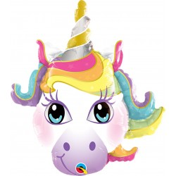 "Balon Folie Mini Figurina Unicorn - 14""/36 cm, Qualatex 58025"