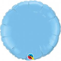 Balon folie metalizat rotund Pale Blue - 45 cm, Qualatex 12908