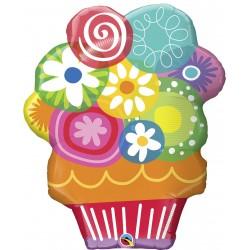 Balon folie figurina Qualatex, Prajitura Happy Birthday, 30683