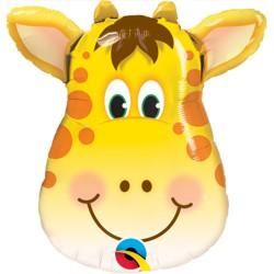 Balon Mini Figurina Cap de Girafa - 36 cm, Qualatex 41790
