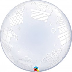Balon Deco Bubble Presents 24''/61cm, Qualatex 52004