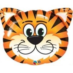 Tiger Blue Stripes Striped Jungle Zoo Animal Balloon, 74x75 cm, 901634