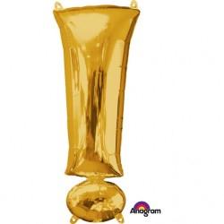 Balon Folie Mare Simbol ! Auriu - 38 x 91 cm, Amscan 35687