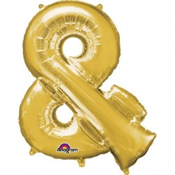 Balon Folie Mare Simbol & Auriu - 76 x 91 cm, Amscan Balon Folie Mare Simbol & Auriu - 76 x 96 cm, Amscan 33006