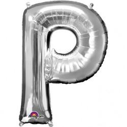 Balon Folie Mare Litera P Auriu - 81 cm, Amscan 32980