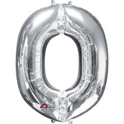 Balon Folie Mare Litera O Argintiu - 83 cm, Amscan 32975