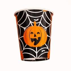 Pahare carton Happy Halloween, Radar 52563, set 8 bucati