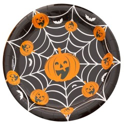 Farfurii 18 cm Happy Halloween, Radar 52562, set 8 bucati