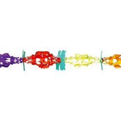 Ghirlanda decorativa Trifoi cu 4 foi multicolora - 3 m x17 cm, Radar 54561