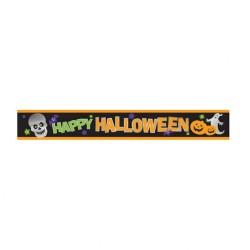 Banner decorativ Happy Halloween - 274 x 12.7 cm, Amscan 129471, 1 buc
