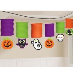 Ghirlanda felinare multicolore pentru Halloween - 365 cm, Amscan 220088-55