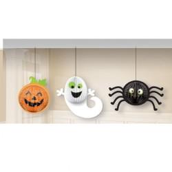Decoratiuni 3D Halloween - Amscan 248218-55, set 3 buc