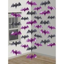 Decor de agatat, lilieci Halloween - 210 cm, Amscan 672000, set 6 buc