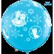 Balon Latex Jumbo 3 ft Frozen, Qualatex 49578, set 2 bucati