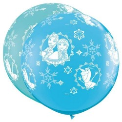 Balon Latex Jumbo 3 ft Frozen, Qualatex 49578, set 2 bucati