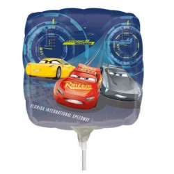 Balon mini folie Cars 3 - 23 cm, Amscan 35372, 1 buc