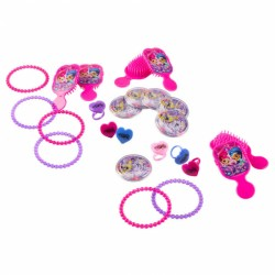 Set 24 piese (bratari, inele, puzzle, perie) Shimmer and Shine, Amscan 9902165