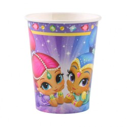 Pahare carton Shimmer and Shine pentru petrecere copii - 250 ml, Amscan 9902154, Set 8 buc