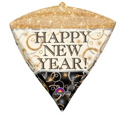 Balon folie diamondz Happy New Year - 38 x 43 cm, Amscan 29414