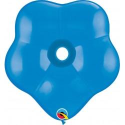 "Balon latex floare, GEO Blossom 6"", Dark Blue, Qualatex 16829"