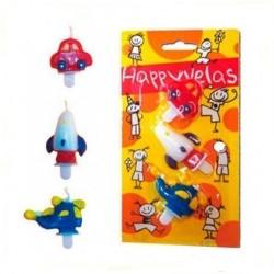 Lumanari aniversare figurine, pentru baietei - 2 modele, Radar 25505, set 3 buc