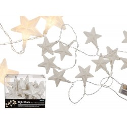Ghirlanda luminoasa cu leduri cu fulgi de nea - ca. 7 cm, L: ca. 1,60 m, Radar 960275