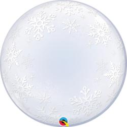 Balon Deco Bubble Stars 24''/61cm, Qualatex 16661, 1 buc