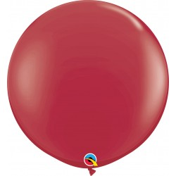 Baloane latex Jumbo 3 ft Maroon, Qualatex 57134, set 2 buc