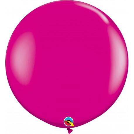 Baloane latex Jumbo 3 ft Wild Berry, Qualatex 25587, set 2 buc