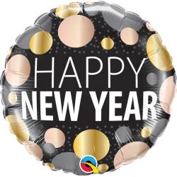 "Balon Folie 45 cm "" Happy New Year"", Qualatex 58163"
