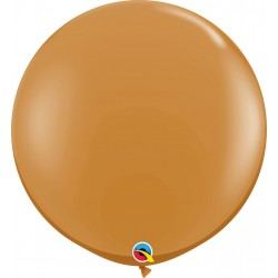 Baloane latex Jumbo 3 ft Mocha Brown, Qualatex 44564, set 2 buc