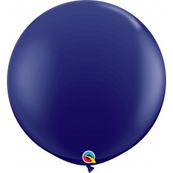 Baloane latex Jumbo 3 ft Navy, Qualatex 57129, set 2 buc