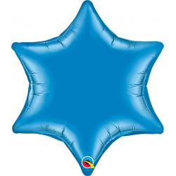 Balon Folie Albastru Metalizat Starpoint - 50 cm, Qualatex 19070